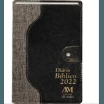 Diário Bíblico 2022 - Luxo - Marrom Com Fecho