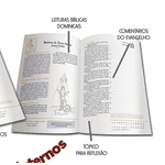 Diário Bíblico 2022 - Luxo -Creme Floral