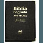 Bíblia Letra Grande Ave Maria Capa Preta