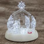 Luminária Transparente Presépio Canta 19cm- Acrílico