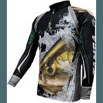 Camiseta De Pesca Proteção Solar Uv King Kff304