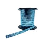 Corrente Flat Metal 10x4mm - Banho Azul Light
