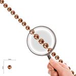 Corrente Mini Rivoli Pedras 10x10mm Light Peach - Banho Cobre