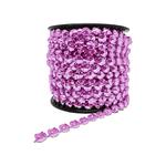 Corrente Mini Rivoli Metalizada Pedras 10x10mm - Banho Rosa Light