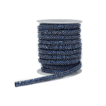 Cordão Infinity - Hematite Blue, Base Silicone.