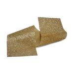 Tira De Strass Dourada e Pedra Cristal - 45x10cm