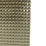 Manta De Strass Pop Metal 40x23cm - Ouro Light