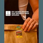 - PACOTE ETIQUETA LACRE DE SEGURANÇA COM PICOTE PERSONALIZADA-1000 UNIDADES