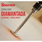 Serra Copo Diamantada Com Haste 2.9/16 65mm Starrett