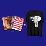 Kit 4 Revistas Zupi + Camiseta PS Elefante