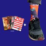 Kit 4 Revistas Zupi + Meia Pixel Show Orange