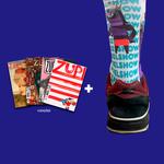 Kit 4 Revistas Zupi + Meia Pixel Show White
