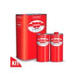 Kit Verniz PU 9100 4 Litros + 2 Endurecedores 3093 de 1 litro - Alto Sólidos Wanda