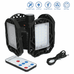 Lanterna LED Dobrável Camping Recarregável Solar e USB 4 folhas
