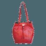 Bolsa Lagan em Couro Vermelho