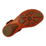 Sandália em Couro Laranja / Colors