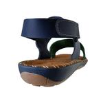 Avarca em Couro Verde / Azul Marinho