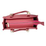 Bolsa Feminina Baú Alça Transversal Com Carteira Tamponada Pink
