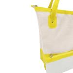 Bolsa Bag Grande Moda Praia De Ombro Com Necessaire Amarela