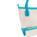 Bolsa Bag Grande Moda Praia De Ombro Com Necessaire Azul