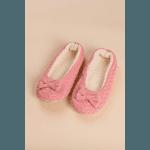 Sapatilha de Crochê Rosa