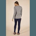 Pijama Longo Feminino Canelado Corações