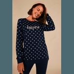 Pijama Feminino de Moletinho Azul Marinho POÁ