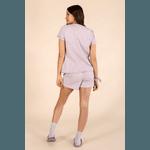 Pijama Curto Feminino Mescla Lilás