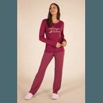 Pijama Feminino Bordô Calça Poá