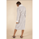 Robe Feminino Cinza Mescla com Lã