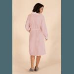 Robe Feminino Rosa com Lã