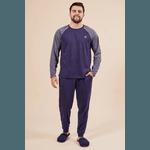 Pijama Masculino Azul marinho Mescla