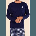 Pijama Longo Masculino Pets Xadrez