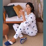 Pijama Manga Longa Corações