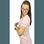 Pijama Cirúrgico Feminino Comfy - Lírio Rosa Bebê