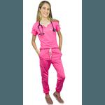Pijama Cirúrgico Comfy - Tulipa Rosa