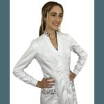 Jaleco Feminino Gabardine - Branco com estampa