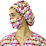 Touca - Máscara Corujas 2
