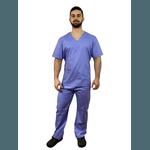 Pijama Cirúrgico Masculino Tricoline - Azul Italiano