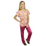 Pijama Cirúrgico Feminino - Peça única promocional - Bonecas