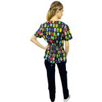 Pijama Cirúrgico Feminino - Caveiras 2