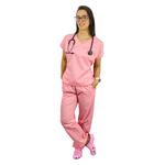 Pijama Cirúrgico Tradicional Tricoline - Rosa