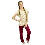 Pijama Cirúrgico Feminino - Peça única promocional - Chapéuzinho Vermelho