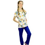 Pijama Cirúrgico Feminino - Peça única promocional - Jardim