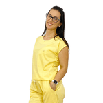 Scrub Cirúrgico Feminino Trendy 100% algodão - Amarelo