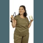 Scrub Cirúrgico Feminino Trendy 100% algodão - Cáqui