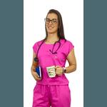 Scrub Cirúrgico Feminino Trendy 100% algodão - Pink