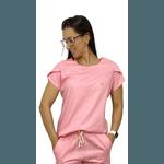 Scrub Cirúrgico Feminino Trendy 100% algodão - Rosa Claro