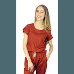Scrub Cirúrgico Feminino Trendy 100% algodão - Terracota