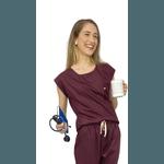 Scrub Cirúrgico Feminino Trendy 100% algodão - Vinho